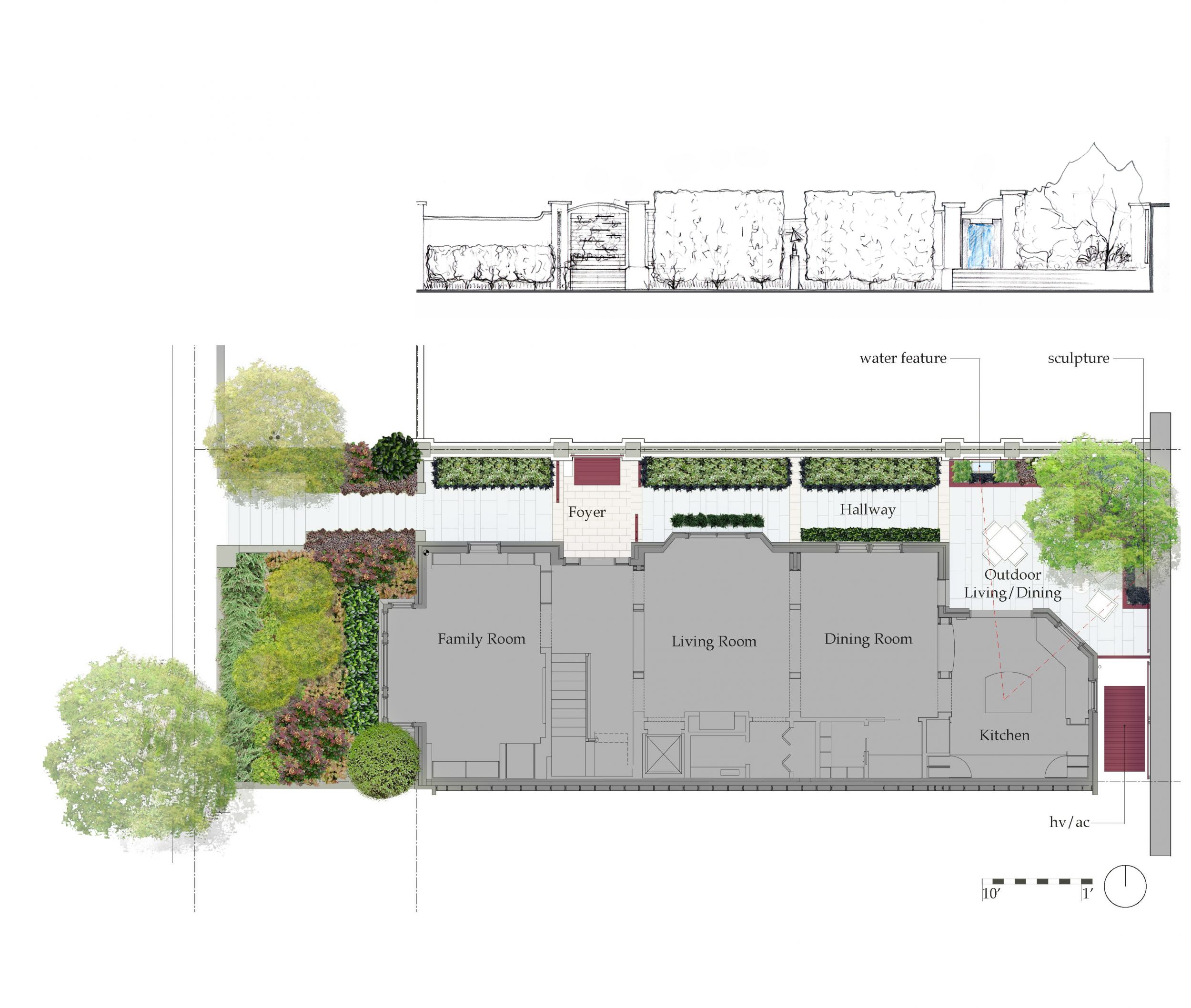 Cathedral Heights Garden_Plan+Elevation